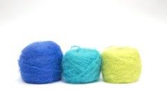 色的羊毛 免版税库存图片
