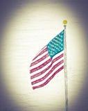 色的美国国旗 图库摄影