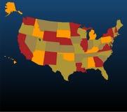 色的美国 免版税库存照片