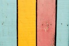 色的老木板 免版税库存图片