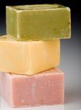 色的肥皂 库存照片