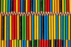 色的背景做铅笔 图库摄影