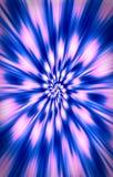 色的背景 斑点在从中部的一个螺旋分流到边缘 库存照片
