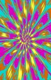 色的背景 斑点在从中部的一个螺旋分流到边缘 免版税库存图片