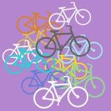 色的自行车 免版税库存照片