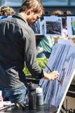 黑色的艺术家 免版税库存照片