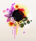 色的花卉框架 库存照片
