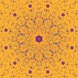 色的花和星背景 图库摄影