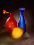 色的花瓶 图库摄影