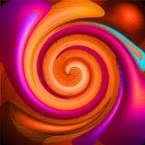 色的荧光的螺旋 皇族释放例证