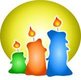 色的蜡烛 免版税库存图片