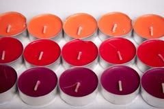 色的蜡烛 免版税库存照片