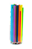 色的蜡笔束 免版税图库摄影