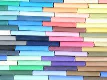 色的蜡笔画多 免版税库存图片