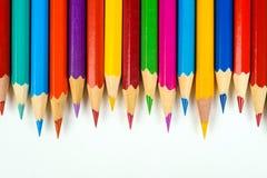 色的蜡笔 免版税图库摄影