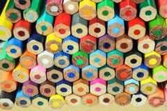 色的蜡笔 免版税库存照片