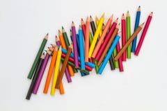 色的蜡笔 库存照片