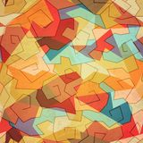 色的螺旋无缝的样式 免版税库存图片