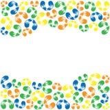 色的螺纹curlicues框架  免版税库存照片