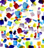 色的补丁程序 免版税图库摄影