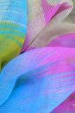 色的被装饰的织品 库存照片