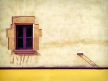 色的西班牙墙壁 库存照片