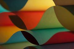 色的详细资料纸张结构挥动 免版税库存照片