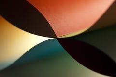 色的详细资料纸张结构挥动 免版税库存图片
