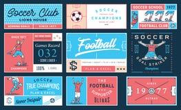 色的足球徽章集合第2 免版税库存图片