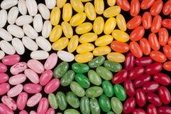 色的软心豆粒糖 免版税库存照片