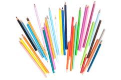 色的铅笔光芒 免版税库存照片