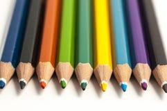 色的铅笔分类 免版税库存图片