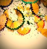 色的铅笔削片 免版税库存照片
