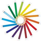 色的铅笔向量 免版税库存照片