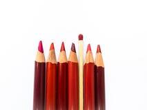 色的铅笔和比赛 图库摄影