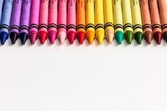 色的铅笔和蜡笔 免版税库存图片