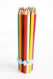 色的铅笔垂直 免版税图库摄影