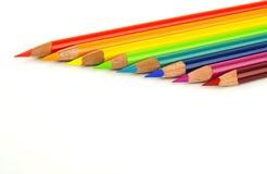 色的铅笔彩虹 免版税库存照片