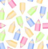 色的铅笔无缝的纹理 免版税库存图片