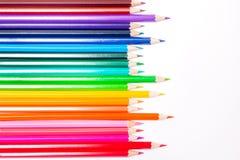 色的铅笔白色背景线, LGBT的标志 库存照片