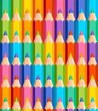 色的铅笔的无缝的样式 皇族释放例证