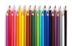 从色的铅笔的篱芭 免版税库存照片