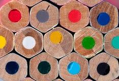 色的铅笔纹理  免版税库存照片