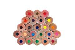 色的铅笔纹理  免版税库存图片