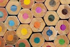 色的铅笔纹理  免版税图库摄影