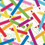 色的铅笔背景 免版税库存图片