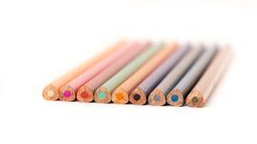 色的铅笔蜡笔 库存图片
