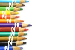 色的铅笔行 免版税库存图片