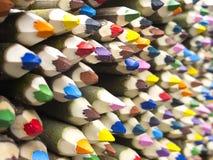 色的铅笔销售 免版税库存照片