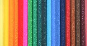 色的铅笔 抽象背景上色了 库存照片